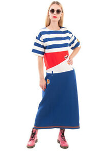RRP €985 MARNI Knitted Midi Trapeze Dress Size 40 / XS Patched Made in Italy