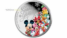 1 $ Dollar Disney Season's Greetings Weihnachten Niue Island 1/2 oz Silber 2015