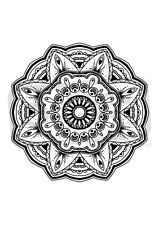 """A7 'Floral Mandala """"Desmontado sello de goma (SP00007724)"""