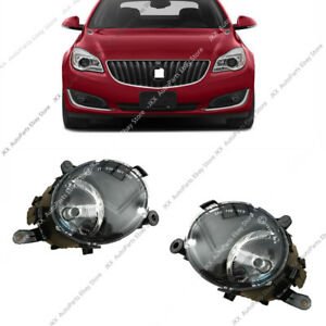For Buick Regal 2014-2017 Front Bumper Driving Lamps Fog Lights With Bulbs 2pcs_