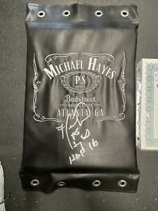 michael Hayes signed turnbuckle pad