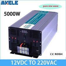 5000W DC12V to AC220V Pure Sine Wave Off grid Solar Power Inverter LED Display