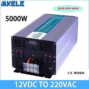 5000W DC12V to AC220V Pure Sine Wave Off grid Solar Power Inverter LED Display