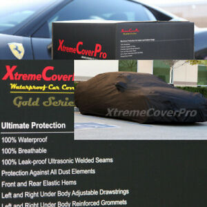 WATERPROOF CAR COVER W/MIRROR POCKET BLACK for 2014 2013 2012 2011 NISSAN LEAF