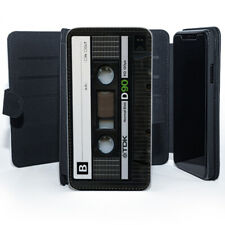 Black Cassette Mixtapes Classic Music Leather Phone Case
