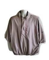 Dryjoy Footjoy FJ Light Brown 1/4 Zip Mens Golf Pullover Jacket XL Rain Coat