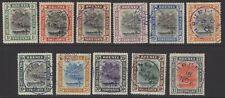 BRUNEI SG23/33 1907-10 DEFINITIVE SET FINE USED