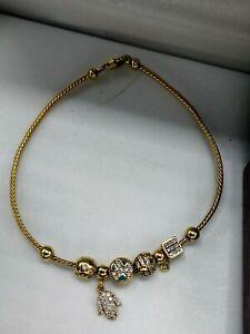 18ct gold lovely charm bracelet 8.6g FREE UK POSTAGE