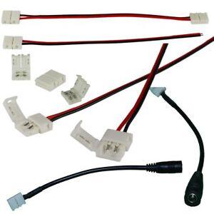 LED Streifen Zubehör Verbinder Verlängerung Adapter Verbindug Strip Lichtleiste