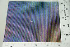"5"" x 5"" SHEET OF IRIDIZED REED TEXTURE ON 3mm BLACK BULLSEYE GLASS 90 COE"
