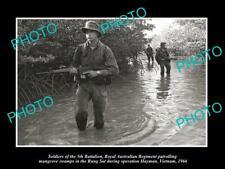 OLD POSTCARD SIZE PHOTO OF AUSTRALIAN MILITARY 5th BATTALION VIETNAM 1966