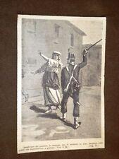 Giuseppe Garibaldi ed il Risorgimento in Italia Gaeta Granatiere punisce donna