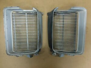1969 Pontiac Grand Prix Left Right Grills Original GM# 9797280 9797281