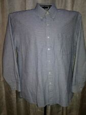 Marquis Men's L, L/S Button Up Shirt, Light Blue & Black Micro Check. Locate A-1