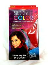 Secret Color Headband Hair Extensions RED Demi Lovato FREE SHIPPING