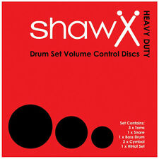 SHAW H/D Volume Control Discs, Drum Silencer Pads, Mutes ROCK SET 002-100-200