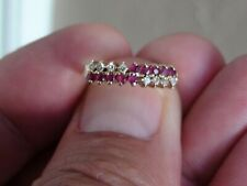 Vintage 14kt Yellow Gold with Pink Sapphire and Diamond Accents