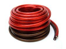 4 Gauge 25' Red 25' Black Power Ground Wire 20 FT Cut piece Copper Clad Mix