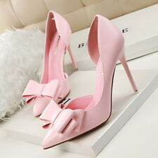 Women Shoes Pumps Pointed Toe Sweet Stiletto Ladies Sandals US7= CN 38 Pink