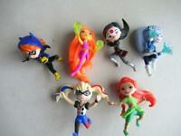 DC SUPER HERO GIRLS ALL 6 Figures no bases Star Fire Mini Frost Harley Quinn &