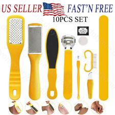 10 Pcs set Pedicure Kit Rasp Foot File Callus Remover Scraper Nail Care Tool kit