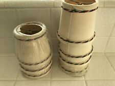 """Lot of 7 Cream Colored Clip On Shades, 4"""""""