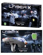 LASER X Real Life Laser Tag Game Gaming Experience - 2 Blasters + 2 Vests - NEW
