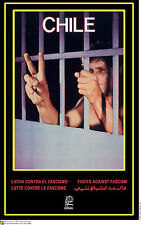 Political POSTER.Free Chile Prisoners.Allende Pinochet Cold War Communist Art.67