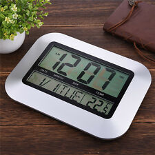 NEW Indoor Outdoor Digital Wall Clock Digital Thermometer Temperature Tester