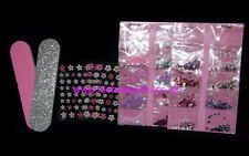 NAIL ART FINGER KIT GIRLS KIDS STICKERS GEMS JEWELS FILE TIPS  DESIGN CRAFT SET