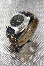 + Wristwatch °° Nele Fortados  DAMENUHR mit Armband im Jeans-Look  JB020812