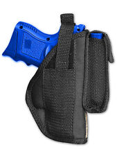Barsony OWB Gun Holster w/ Magazine Pouch for S&W M&P SubComp Compact 9mm 40 45