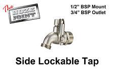 """Tap - Side Lockable - 1/2"""" BSP Mount x 3/4"""" BSP Outlet - Garden Tap"""