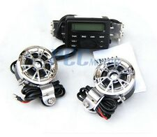 Motorcycle Bike Audio FM Radio MP3iPodStereo Chrome Speakers Sound System V TK11