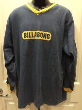 BILLABONG Mens Long Sleeve Blue w/ gold Edging T-Shirt XLARGE RCP