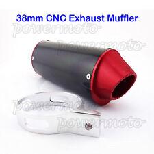 CNC 38mm Exhaust Muffler For YCF IMR SSR Pitster Stomp YX Pit Dirt Bike ATV Quad