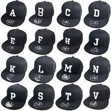 Snapback Buchstaben Baseball Cap  ABC A B C D E F G H I J K  schwarz TOXIC NEW