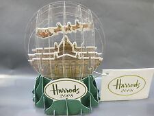 HARRODS VINTAGE POP UP SNOW GLOBE 2008 CHRISTMAS FOLD FLAT IN PACKET COLLECTABLE