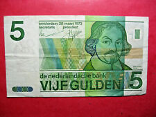 Pays-Bas. Netherlands. Billet de 5 gulden 1973