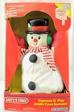 Vintage Baby 'N Things Squeeze & Play Cuddle Tunes Snowman Christmas