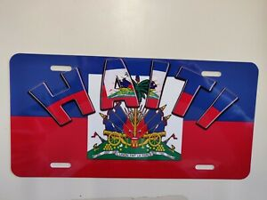 HAITI Metal  License Plate Cover with Design