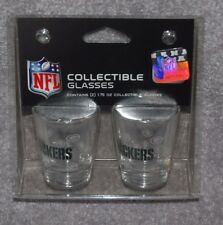 GREEN BAY PACKERS NFL FOOTBALL 2-PACK 1.75oz SPORTS ROUND SHOT GLASS