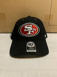 San Francisco 49ers NFL '47 Brand Carhartt Mens Black MVP Adjustable Hat
