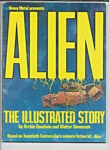Alien The Illustrated Story Goodwin + Simonson 1979 Heavy Metal SC GN 56 pp FN+