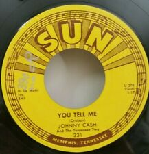 Johnny Cash SUN 331 YOU TELL ME / GOODBYE LITTLE DARLIN' (ROCKABILLY) PLAYS NEW!