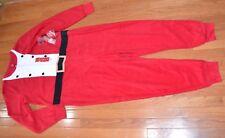ADULT ONE PIECE PJ's Fleece Jammies for Families Womans XL Santa Suit Pajamas