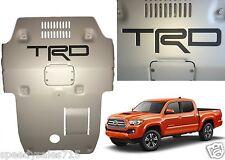 Matte Black Premium Vinyl TRD Skid Plate Inserts For 2016-2017 Toyota Tacoma New