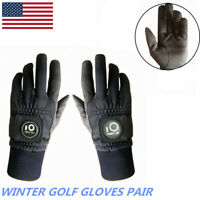 Mens Golf Gloves Winter Performance Grip Thermal Warm Windproof Cool Weather