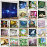 2 Panels Space Star Unicorn Animals 3D Printing Blockout Fabric Window Curtains