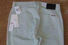 HUDSON BLAKE SLIM STRAIGHT Jeans 30X34 NWT$176 RARE Lt .Mint Green-Soft Chino